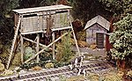 Branch Line Water Tank & Tool House -- HO Scale Model Railroad Building Kit -- #372