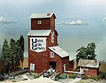 Grain Elevator -- HO Scale Model Railroad Building Kit -- #384