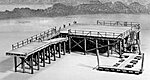 Fishing Pier -- HO Scale Model Railroad Building Kit -- #392