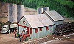 Oil Warehouse & Office -- HO Scale Model Railroad Building Kit -- #406