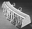 Low Curved Timber Trestle Kit -- N Scale Model Railroad Trestle Kit -- #753