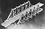 Thru Timber Bridge -- N Scale Model Railroad Bridge Kit -- #760