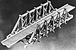 70' Thru Timber Bridge -- HO Scale Model Railroad Bridge Kit -- #762