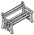 Park Benches Kit -- HO Scale Model Railroad Building Accessory -- #930