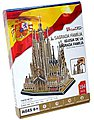 Sagrada Familia Church (Barcelona) (194pcs) -- 3D Jigsaw Puzzle -- #153