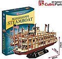 Mississippi Paddle Wheel Steamboat 3D Foam Puzzle (142pcs)