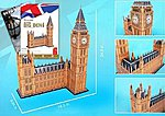 Big Ben (London, England) (116pcs) -- 3D Jigsaw Puzzle -- #87