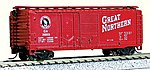40' Double Door Plywood Box Car Great Northern -- N Scale Model Train Freight Car -- #15062