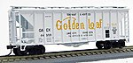 40' Airslide(R) Single Bay Hopper Golden Loaf Flower -- HO Scale Model Freight Car -- #197067