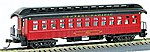 1880s Wood Open-Platform Coach Central Pacific -- HO Scale Model Train Passenger Car -- #223