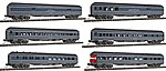 1930s Heavyweight 6-Car Set Southern Pacific -- N Scale Model Train Passenger Set -- #580023