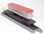 54' Flatcat with Trailer SSW -- HO Scale Model Train Freight Car -- #9431