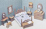 Bedroom Furniture -- Wooden Doll House Kit -- #7201