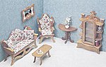 Living Room Furniture -- Wooden Doll House Kit -- #7203