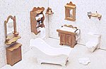 Bathroom Furniture -- Wooden Doll House Kit -- #7204