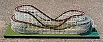 Wood Style Roller Coaster - HO-Scale