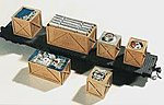 Open Crates Load (6) -- HO Scale Model Train Freight Car Load -- #7251