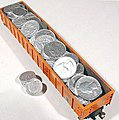 Pay Load Funny Money (Quarters/Dimes) (D) -- HO Scale Model Train Freight Car Load -- #7258
