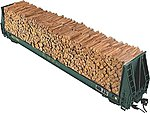 Pulpwood For Walthers 52' Cars (932-5780 Series) -- HO Scale Model Train Freight Car Load -- #7259