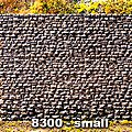Random Stone Retaining Wall - Small -- N Scale Model Railroad Scenery Structure -- #8300
