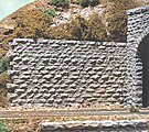 Cut Stone Retaining Wall - Medium -- HO Scale Model Railroad Scenery Structure -- #8312