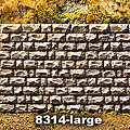 Cut Stone Retaining Wall Large -- O Scale Model Railroad Miscellaneous Scenery -- #8314