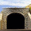Double-Track Random Stone Tunnel Portal -- HO Scale Model Railroad Scenery -- #8370