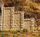 Cut Stone Stepped Tunnel Abutment -- HO Scale Model Railroad Scenery -- #8401