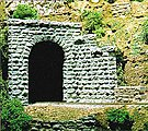 Tunnel Portal -- Cut Stone Single Track 2-1/2 x 2-1/2'' 6.2 x 6.2cm pkg(2) - N-Scale