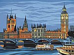 Houses of Parliament, England Acrylic Paint by Number 11.5''x15.5'' -- Paint By Number Kit -- #12187