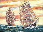 Sailing Ships Acrylic Paint by Number 11.5''x15.5'' -- Paint By Number Kit -- #13053