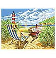 Seashore w/Lighthouse Acrylic Paint by Number 11.5''x15.5'' -- Paint By Number Kit -- #13162