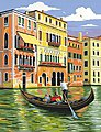Venice, Italy Acrylic Paint by Number 9''x12''