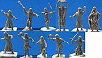 Biblical Era Hebrew Warriors (42) -- Plastic Model Military Figure -- 1/72 Scale -- #14