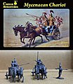 Mycenaean (5) w/2 Chariots & 4 Horses -- Plastic Model Military Figure -- 1/72 Scale -- #21