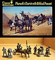 Pharaoh's Chariot with 2 Horses & Biblical Peasants -- Plastic Model Military Figure -- 1/72 -- #42