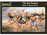 Biblical Era Egyptian Enemy Sea Peoples (42) -- Plastic Model Military Figure -- 1/72 Scale -- #48