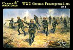 WWII German Panzergrenadiers (43) -- Plastic Model Military Figure -- 1/72 Scale -- #52