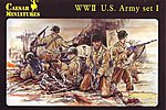 WWII US Army Set #1 (41) -- Plastic Model Military Figure -- 1/72 Scale -- #54
