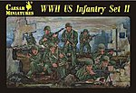 WWII US Infantry Set #2 (34) -- Plastic Model Military Figure -- 1/72 Scale -- #71
