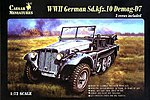 WWII German SdKfz 10 Demag D7 with 3 Crew -- Plastic Model Halftrack Kit -- 1/72 -- #7204