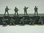 WWII Late War German Army (34) -- Plastic Model Military Figure -- 1/72 Scale -- #74