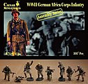 WWII German Africa Corps Infantry -- Plastic Model Military Figure -- 1/72 Scale -- #7713
