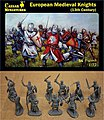 13th Century European Medieval Knights (34+) -- Plastic Model Military Figure -- 1/72 Scale -- #87