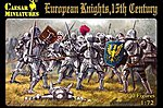 15th Century European Knights (30) -- Plastic Model Military Figure -- 1/72 Scale -- #91