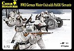 1/72 WWII German Winter Unit Servants (22) w/Pak 36 Gun (Kit)