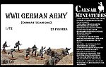 WWII German Army Combat Team One (23) -- Plastic Model Military Figure -- 1/72 Scale -- #hb6