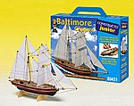 Junior Baltimore Clipper Double-Masted Ship w/solid wood hull (Beginner)