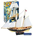 1/80 Virginia Double-Masted American Schooner Ship w/painted plastic hull (Intermediate)