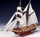 1/55 Albatros Double-Masted Baltimore 1840 Schooner Ship w/plank-on frame (Intermediate)